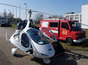 Cavalon Gyrocopter with installed gravity system at the Research Airport of Braunschweig